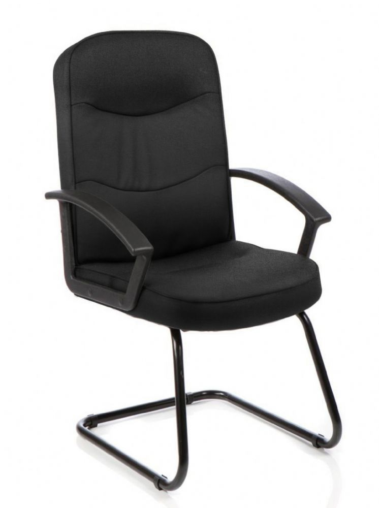 **SPECIAL OFFER Harley Versatile Cantilever Visitor Chair High Back Black Frame with Arms